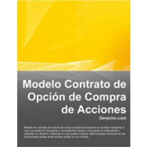 """CONTRATO DE OPCIÓN DE COMPRA DE ACCIONES DE [EYECAREphoto app] Entre la """"Compañía"""" individualizada y representada en la forma indicada en la."""