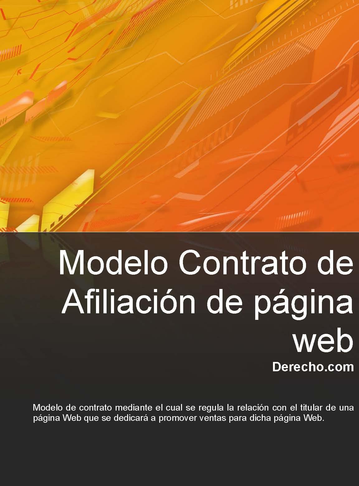 Contrato de afiliación de página web