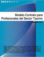 Contrato para profesionales del sector taurino