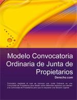 Convocatoria Ordinaria de Junta de Propietarios