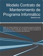 Contrato de mantenimiento de programa informático
