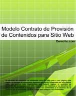 Contrato de provisión de contenidos para sitio web
