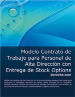 Contrato de trabajo para personal de alta dirección con entrega de Stock Options