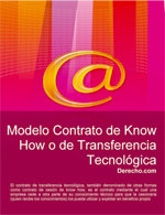 Contrato de Know How o transferencia tecnológica
