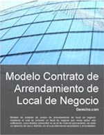 Contrato de arrendamiento de local comercial