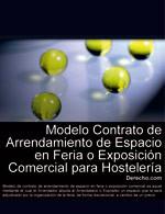 Contrato de arrendamiento de espacio en feria o exposición comercial para hostelería