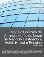 Contrato de arrendamiento de local de negocio destinado a hotel, hostal o pensión