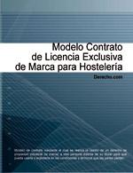 Contrato de licencia exclusiva de marca para hostelería