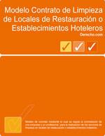 Contrato de limpieza de locales de restauración o establecimientos hoteleros