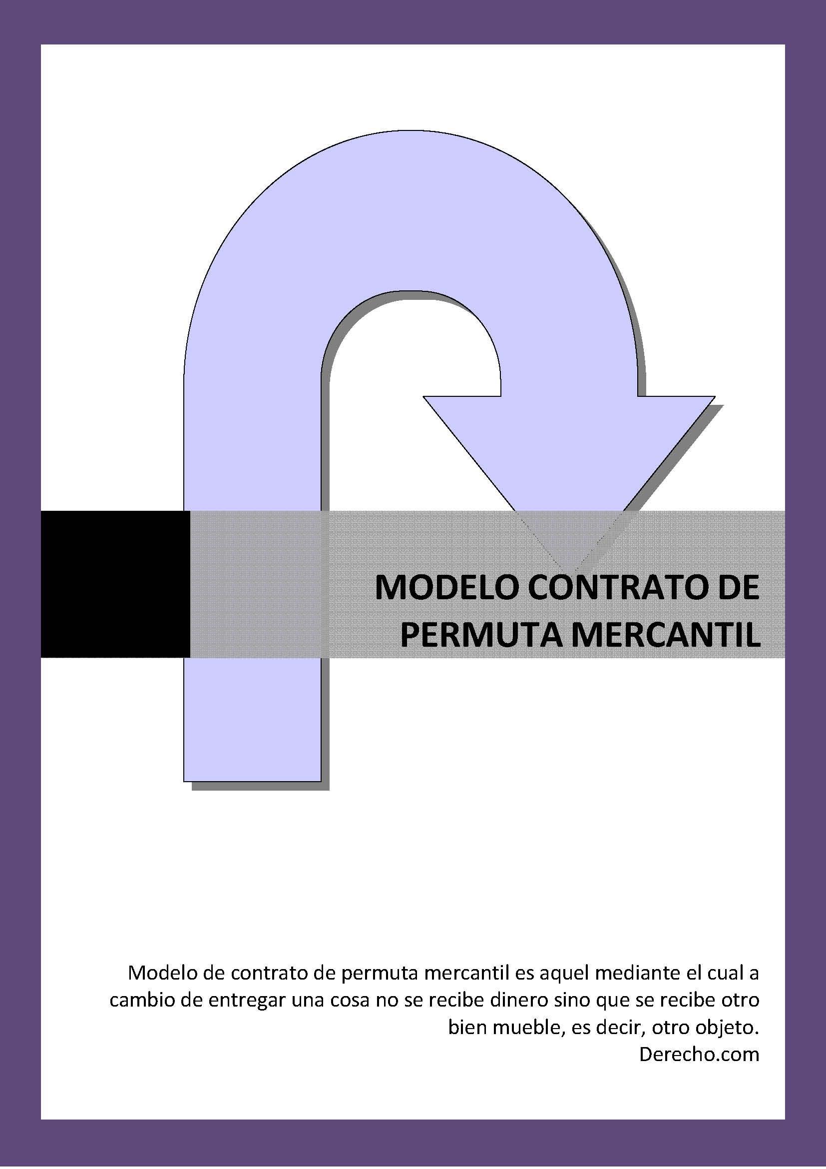 Contrato de permuta mercantil