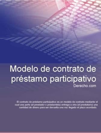 Contrato de préstamo participativo