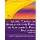 Contrato de arrendamiento de plaza de aparcamiento para motocicleta