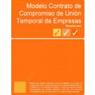 Contrato de compromiso de Unión Temporal de Empresas