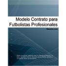Contrato para futbolistas profesionales