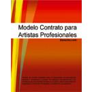 Contrato para artistas profesionales