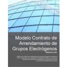 Contrato de arrendamiento de grupos electrógenos