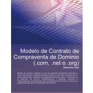 Contrato de compraventa de Dominio (.com, .net, o .org)
