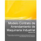 Contrato de arrendamiento de maquinaria industrial