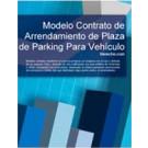 Contrato de arrendamiento de plaza de parking para vehículo