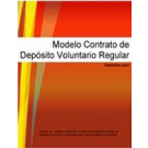Contrato de depósito voluntario regular