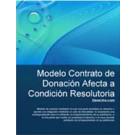 Contrato de donación afecta a condición resolutoria