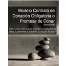Contrato de donación obligatoria o promesa de donar