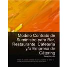 Contrato de suministro para bar, restaurante, cafetería y/o empresa de cátering