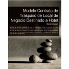 Contrato de traspaso de local de negocio destinado a hotel