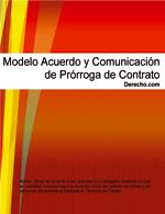 Acuerdo y comunicación de prórroga de contrato