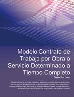 Contrato de trabajo por obra o servicio determinado a tiempo completo