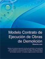 Contrato de ejecución de obras de demolición