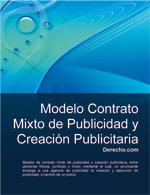 Contrato mixto de publicidad y creación publicitaria