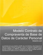 Contrato de compraventa de base de datos de carácter personal