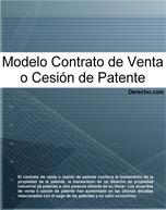 Contrato de venta o cesión de patente