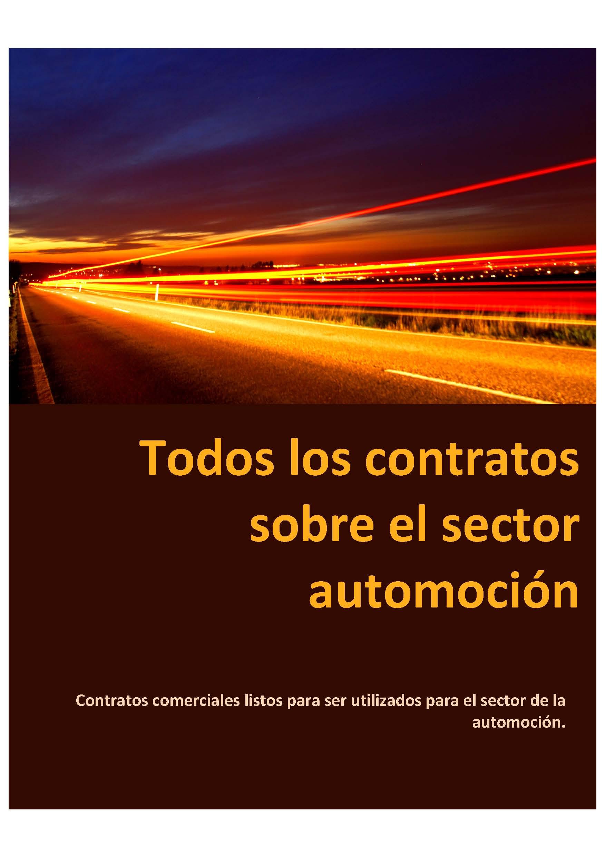 Todos los contratos sobre el sector automoción