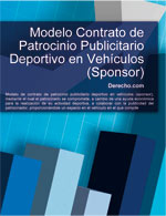 Contrato de patrocinio publicitario deportivo en vehículos (sponsor)