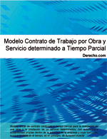 Contrato de trabajo por obra o servicio determinado a tiempo parcial