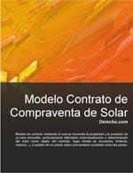 Contrato de compraventa de solar